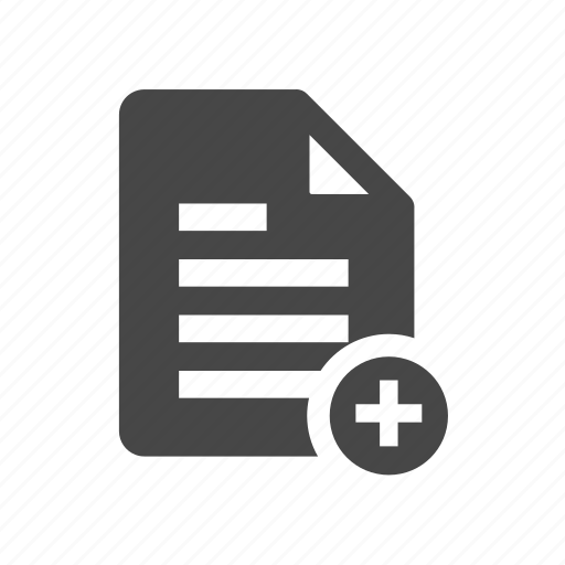 add, create, document, template icon