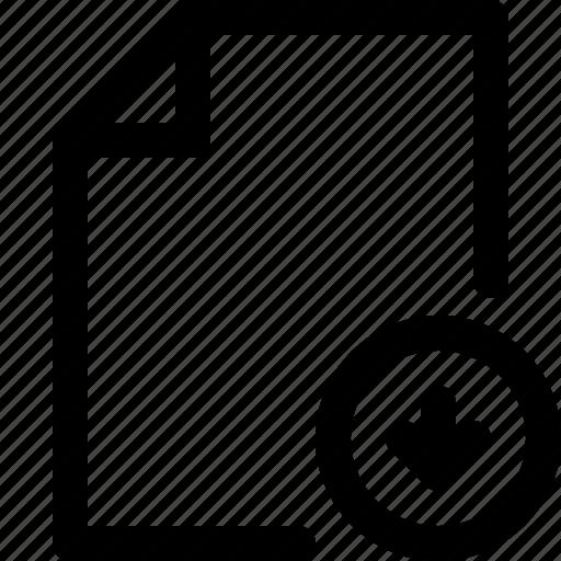 arrow, document, document icon, paper, paper icon, sheet, sheet icon icon