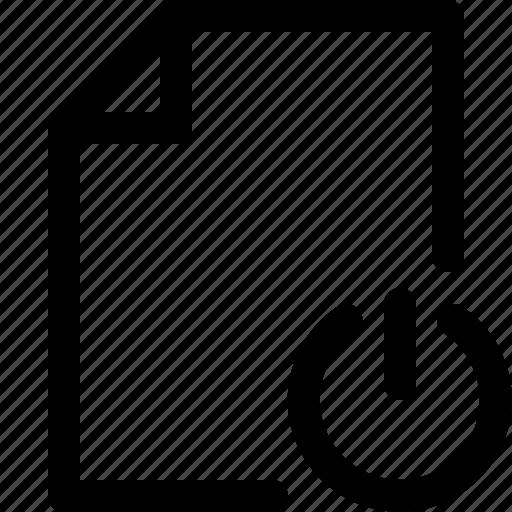 document, document icon, paper, paper icon, sheet, sheet icon, shutdown icon
