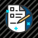 document, file, report, write