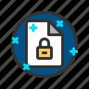 document, file, lock, report