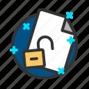 document, file, report, unlock