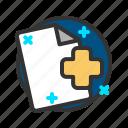 add, document, file, plus, report