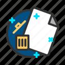 delete, document, file, remove, report icon
