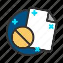 block, document, file, report