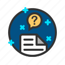 document, file, help, question, report icon