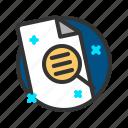 document, file, report, search icon