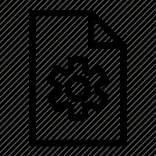 document, document setting, file, setting icon