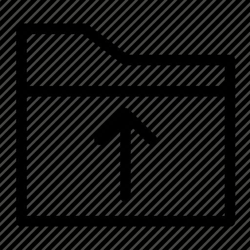 document, folder, up, upload icon