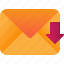 email, message, receive icon