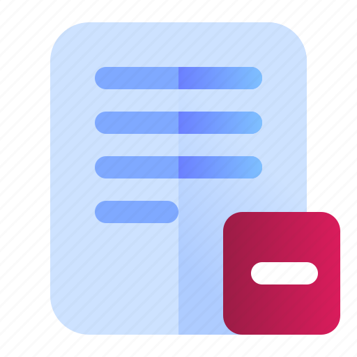 Delete, document, file, remove icon - Download on Iconfinder