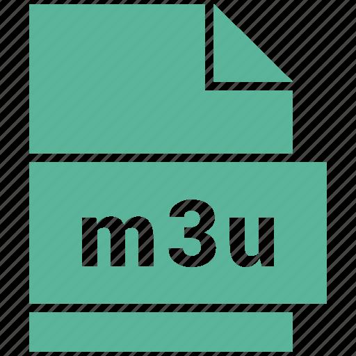 document file format, m3u, media playlist file icon