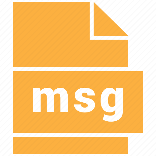 document file format, msg, outlook mail message icon