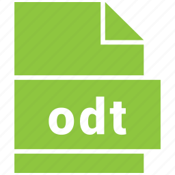 document file format, odt, opendocument text document icon