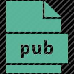 document file format, extension, file, format, pub icon