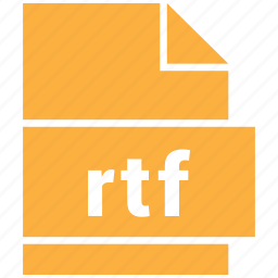 document file format, rtf icon