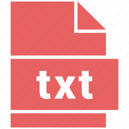 document, document file format, file, txt icon