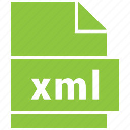 document file format, file, format, type, xml icon