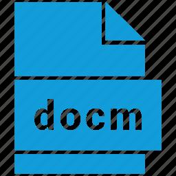docm, document, document file format, file, format, type icon