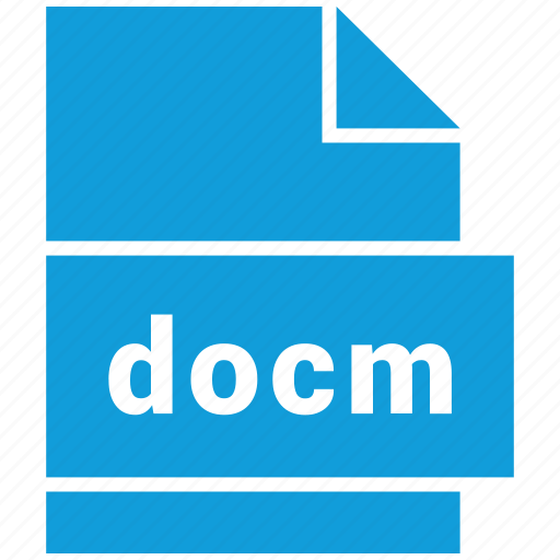 docm, document, document file format, file, format, type icon