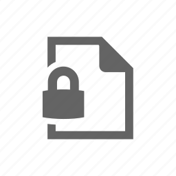 doc, document, file, lock, page, secure icon