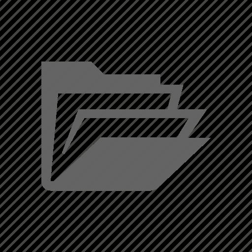 document, folder, open icon