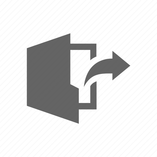 arrow, document, folder, out icon