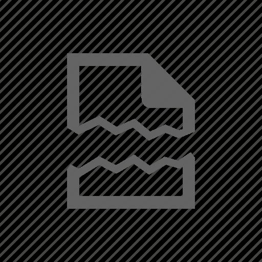 break, crack, delete, doc, document, file, page icon