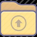 archive, folder, upload icon