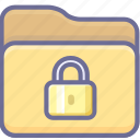 archive, folder, security icon