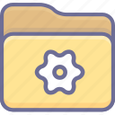 archive, folder, setting icon
