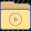 archive, folder, movie icon