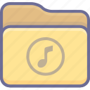 archive, folder, music icon