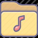 archive, folder, music icon