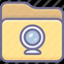 archive, folder, video icon