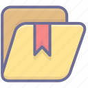 archive, folder, tag icon