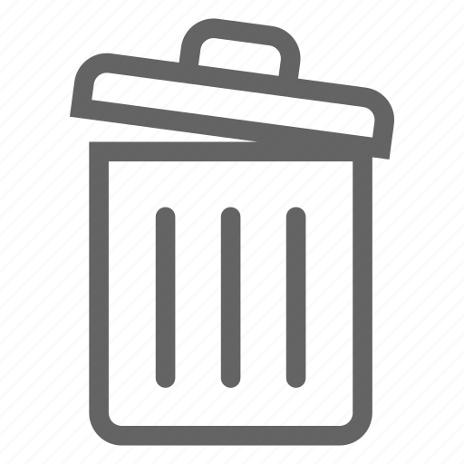 data, document, information, line, office, trash icon