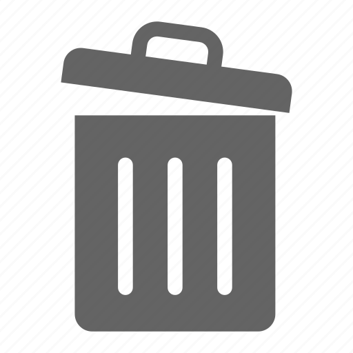 communication, data, document, information, office, trash icon