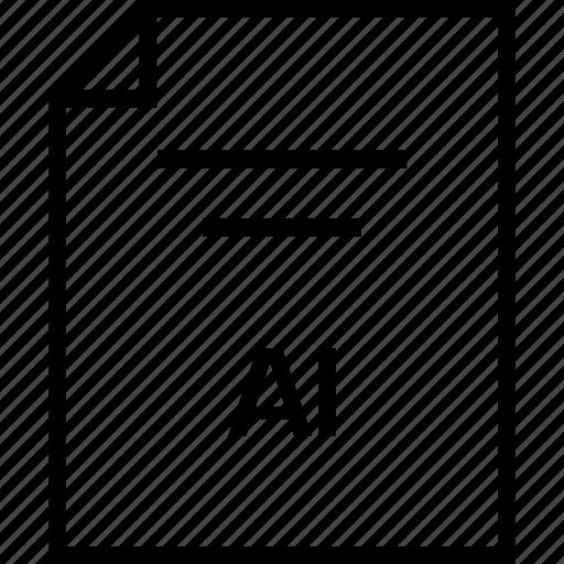 ai illustrator, document, extension icon