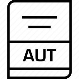 aut, document, extension icon
