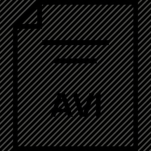 avi, document, extension icon