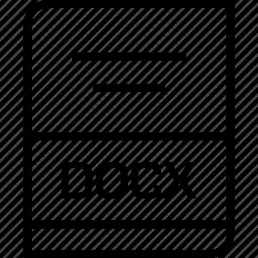 document, docx, extension icon