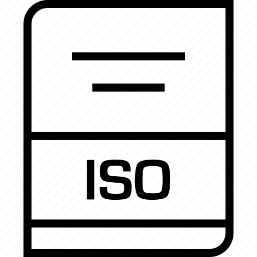 document, extension, iso icon