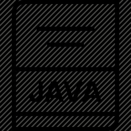 document, extension, java icon