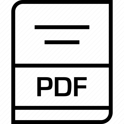 document, extension, pdf icon