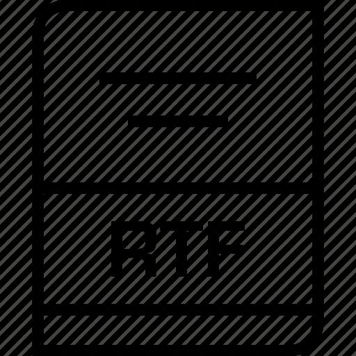 document, extension, rtf icon