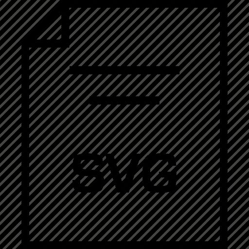 document, extension, svg illustrator icon