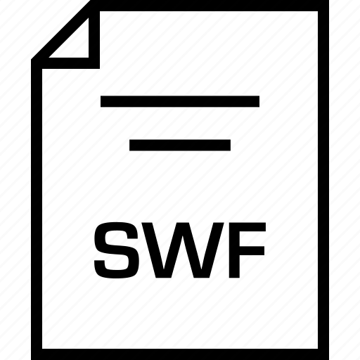 document, extension, swf icon