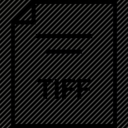 document, extension, tiff icon