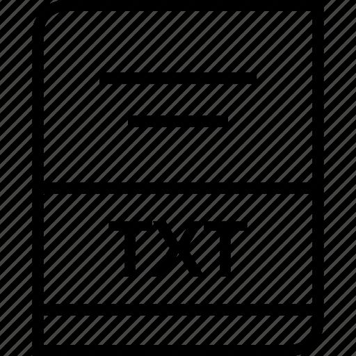 document, extension, txt icon